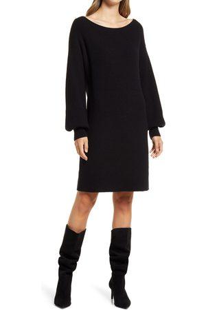 Halogen Women's Halogen Puff Sleeve Sweater Dress