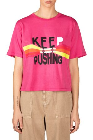 Le Superbe Women's Keep Going Cotton Graphic Tee