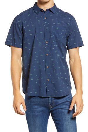 Marine Men's Short Sleeve Button-Up Shirt
