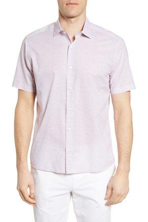 Robert Barakett Men's Winchester Floral Short Sleeve Button-Up Shirt