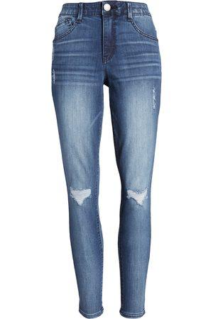Wit & Wisdom Women's Ripped High Waist Ankle Skinny Jeans