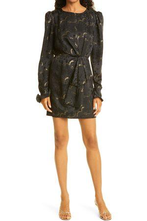 SALONI Women's Debbie Silk Jacquard Long Sleeve Minidress