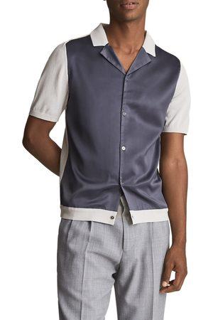 Reiss Men's e Bilboa Colorblock Short Sleeve Button-Up Shirt