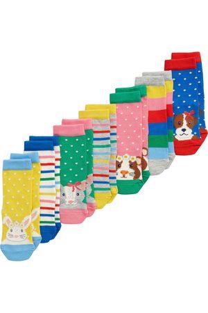 Boden Girls Socks - Toddler Girl's Kids' Assorted 7-Pack Socks