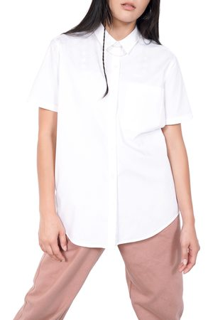 BP. + Wildfang Plus Size Women's Short Sleeve Button-Up Shirt