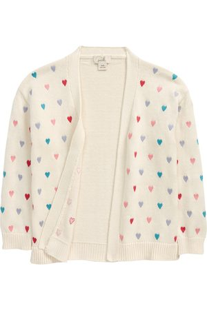 Peek Aren't You Curious Toddler Girl's Kids' Allover Hearts Embroidered Cardigan