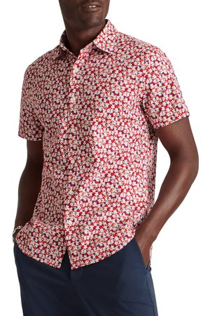 BONOBOS Men's Riviera Slim Fit Short Sleeve Button-Up Shirt