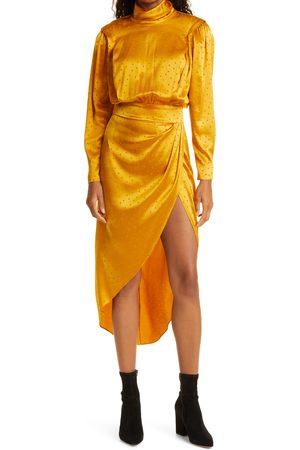 RONNY KOBO Women's Blake Jacquard Silk Blend Long Sleeve Dress