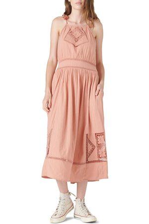 Lucky Brand Women Maxi Dresses - Women's Sleeveless Eyelet Maxi Dress