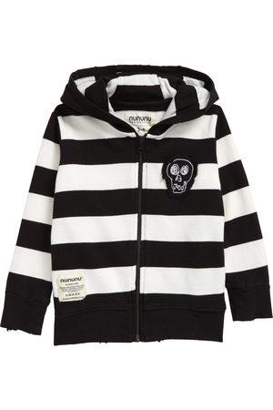 Nununu Toddler Kids' Stripe Cotton Zip-Up Hoodie