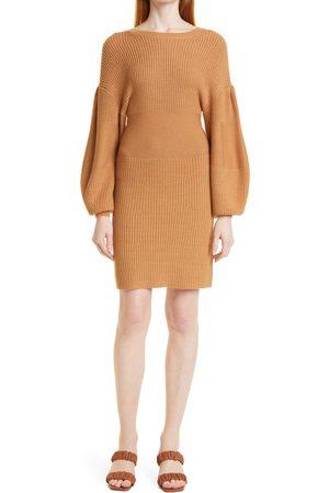 Staud Women's Marylebone Long Sleeve Sweater Minidress
