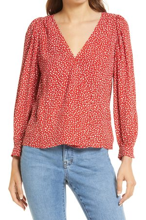 Madewell Women's Kinston Park Picnic Side Button Wrap Top