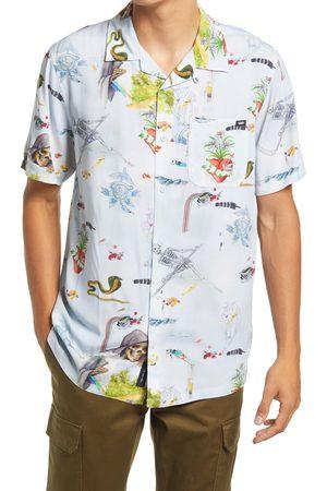 Vans Men's Men's Gallery Nathan Short Sleeve Button-Up Camp Shirt