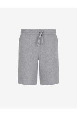 ARMANI EXCHANGE Men Bermudas - Shorts Grey Cotton, Polyester