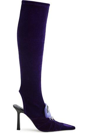 ANCUTA SARCA Women Thigh High Boots - 100 velvet knee-high sock boots