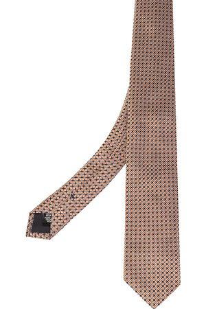 HUGO BOSS Navy Jacquard Silk Tie