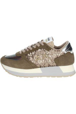 sun68 Sneakers Women Taupe Camoscio/pelle Sintetica