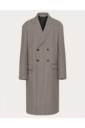 VALENTINO Men Coats - Vltn Times Wool Coat Man Grey 100% Virgin Wool 48