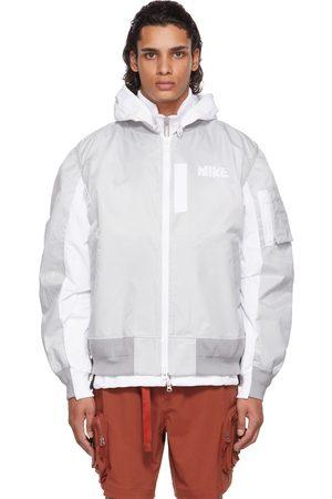 Nike Men Bomber Jackets - Grey Sacai Edition Bomber Jacket