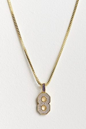 King Ice Men Necklaces - Black Mamba Number 8 Necklace