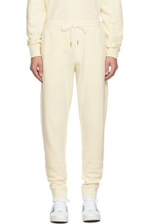 Tom Ford Men Sweats - Off-White Garment Dyed Lounge Pants
