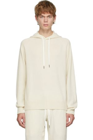 Tom Ford Men Hoodies - Off-White Cashmere Seamless Hoodie