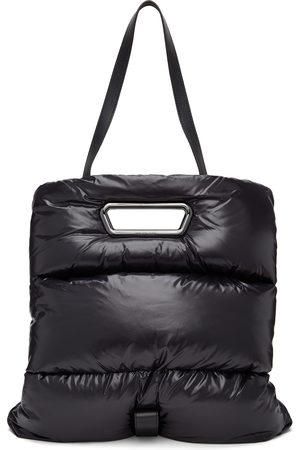 Moncler Women Clutches - Black Down Disk Tote