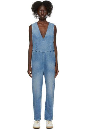 MM6 MAISON MARGIELA Women Jeans - Blue Denim Jumpsuit