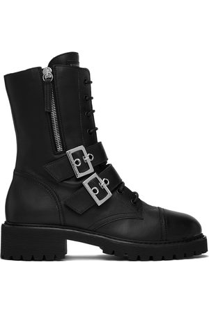 Giuseppe Zanotti Black Biker Boots