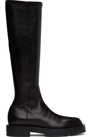 Givenchy Women Thigh High Boots - Black Leather Squared Tall Boots