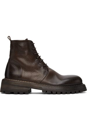 MARSÈLL Men Lace-up Boots - Brown Carrucola Lace-Up Boots