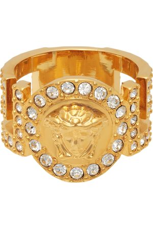VERSACE Women Rings - Gold Crystal Icon Medusa Ring