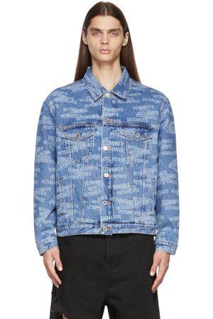 Vetements Blue Stamped Logo Denim Jacket