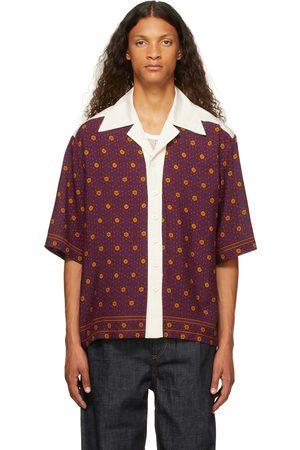 WALES BONNER Men Short sleeves - Red Madras Bowling Short Sleeve Shirt