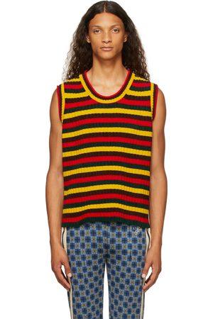 WALES BONNER Men Tank Tops - Multicolor Chenille Brixton Vest