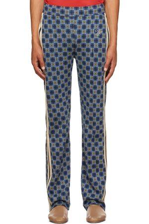 WALES BONNER Men Sports Pants - Blue London Tracksuit Pants