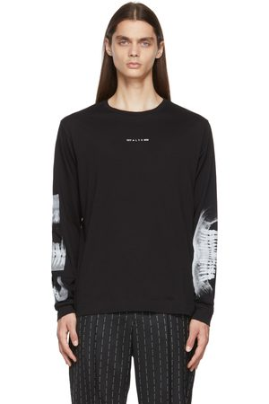 1017 ALYX 9SM Black Triple Print Long Sleeve T-Shirt