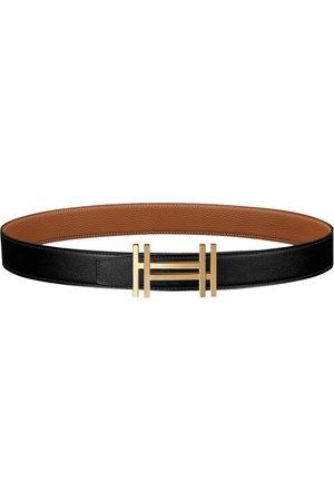 Hermès H leather belt