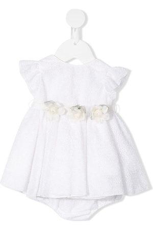 LA STUPENDERIA Baby Printed Dresses - Gloria floral belt lace dress set