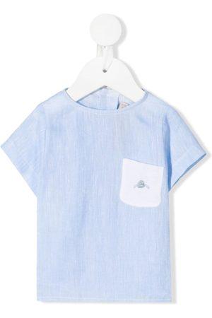 LA STUPENDERIA T-shirts - Chest pocket linen T-shirt