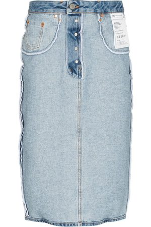 MM6 MAISON MARGIELA Women Midi Skirts - Inside Out denim midi skirt
