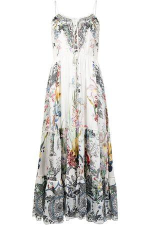 Camilla Women Printed Dresses - Floral-print spaghetti-strap dress