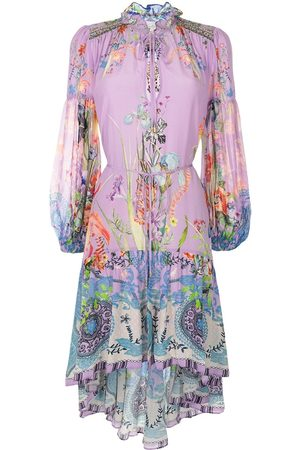 Camilla High-low floral pattern dress