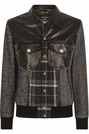 Dolce & Gabbana Men Jackets - Contrast-panel shirt jacket