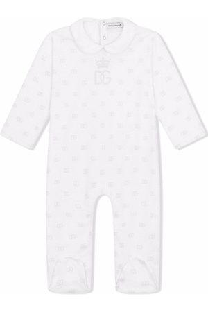 Dolce & Gabbana Bodysuits & All-In-Ones - DG logo print babygrow set