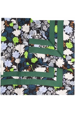 Ganni Women Scarves - Floral silk scarf