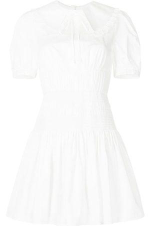 Self-Portrait Women Party Dresses - Lace-trim shirred mini dress