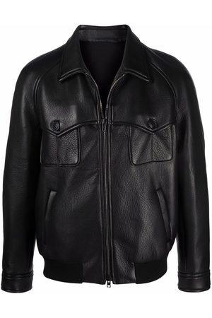 SALVATORE SANTORO Men Leather Jackets - Zipped leather jacket