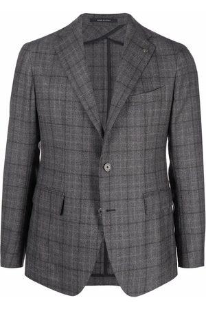 TAGLIATORE Men Blazers - Check-print blazer - Grey