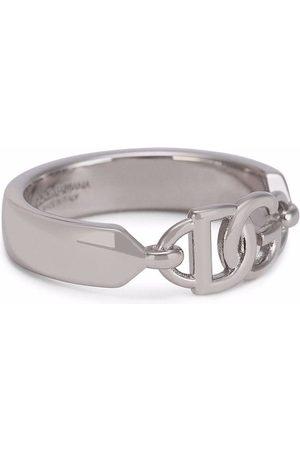 Dolce & Gabbana Men Rings - Logo-plaque ring
